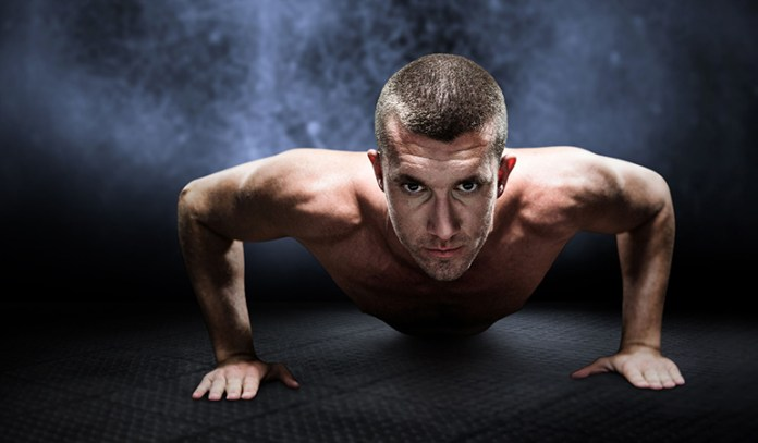 Push-ups strengthen the arms and shoulders.