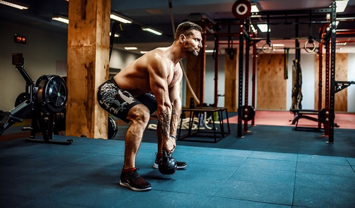 The kettlebell swing strengthens muscles in the upper and lower body.