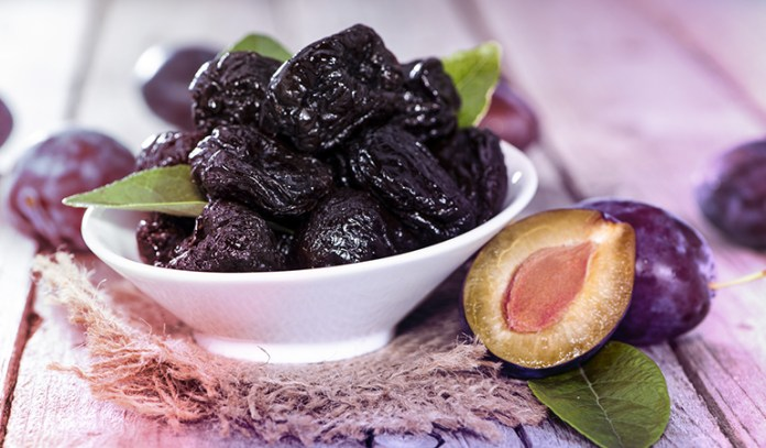 Half a cup of prunes has 103.5 mcg of vitamin K.