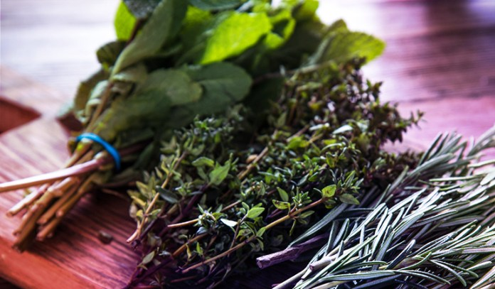 10 gm serving of parsley: 13.3 mg of vitamin C (15% DV)