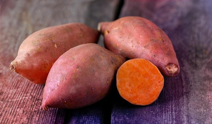1 cup of sweet potatoes: 39.2 mg of vitamin C (44% DV)
