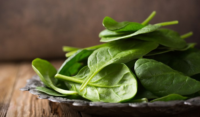 Half a cup of boiled spinach: 3.2 mg of iron (17% DV)