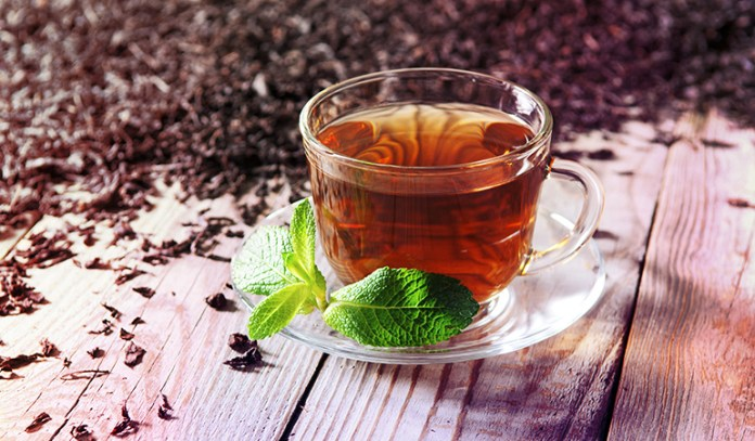 1 teaspoon unsweetened instant tea powder has 0.931 mg or 40.5% DV manganese.