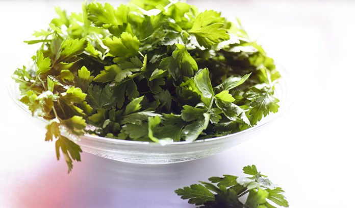 A cup of chopped parsley has 0.35 mg of boron.