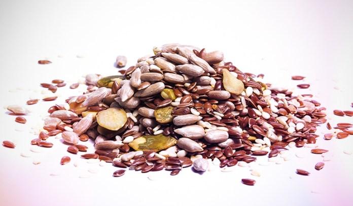 Sesame seeds contain 5.855 gm of omega 6 fatty acids.