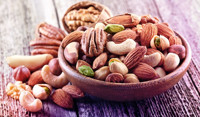 An ounce of almonds has 0.8 mg of boron.