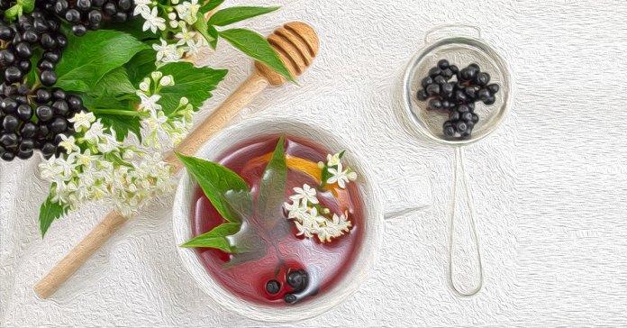Health benefits of elderberry tea.