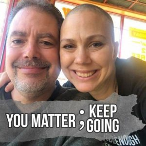 Brianna and her husband, caption you matter; keep going