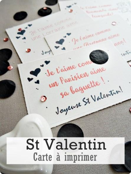 carte st valentin à imprimer