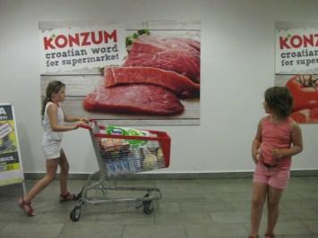 Supermarché en Croatie.