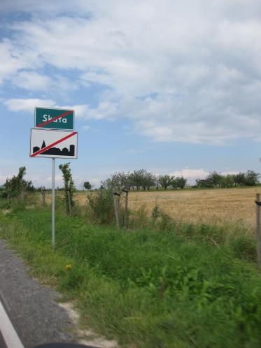 Panneau de sortie de ville en Pologne.