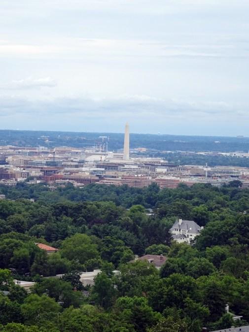 Cathédrale de Washington-Vue de Washington depuis la galerie des Pèlerins.