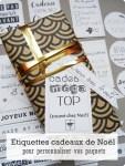 Étiquettes cadeaux de Noël, pour personnaliser vos paquets