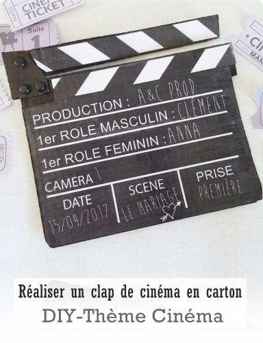 clap cinéma diy