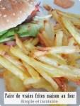 Faire de vraies frites au four !
