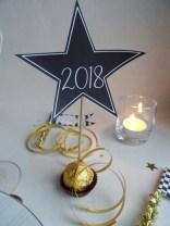 Soirée du Nouvel An-Déco de table à imprimer