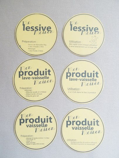 étiquettes produits naturels