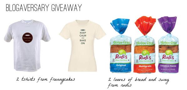 Frannycakes & Rudi's Blogaversary giveaway