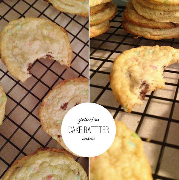 gluten free birthday cake batter cookies