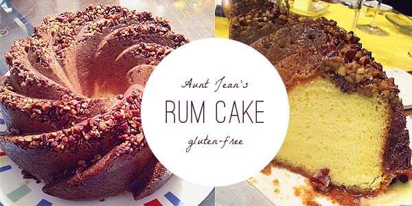 gluten free rum cake with pudding and yellow cake mix