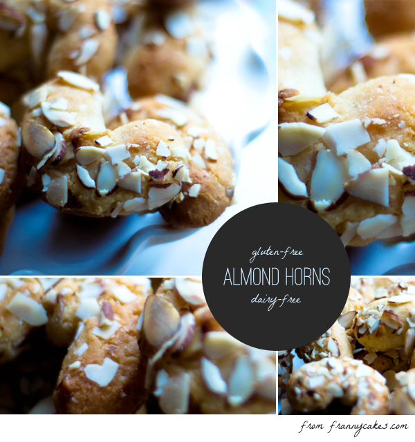 gluten free almond horns (they are also dairy free!)
