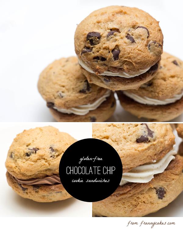 gluten free chocolate chip cookie sandwiches