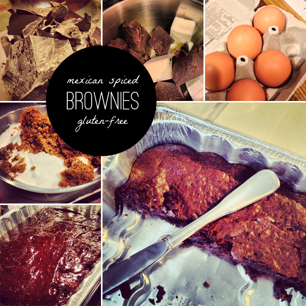 gluten free mexican spiced brownies