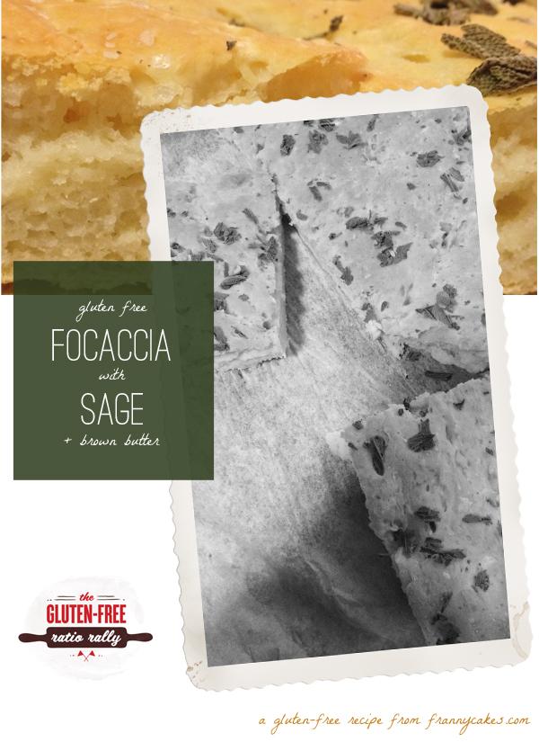 gluten free focaccia with sage & brown butter