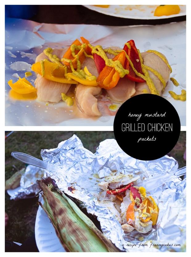 gluten-free honey mustard chicken foil packet dinner for camping