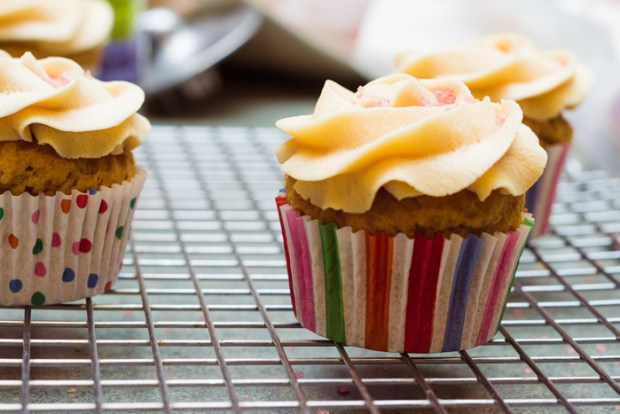 gluten-free peanut butter & jelly cupcakes from frannycakes