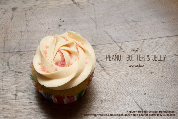 gluten-free peanut butter and jelly cupcakes