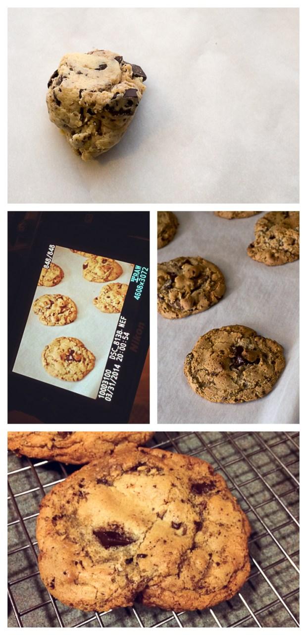 making gluten-free chocolate chip cookies