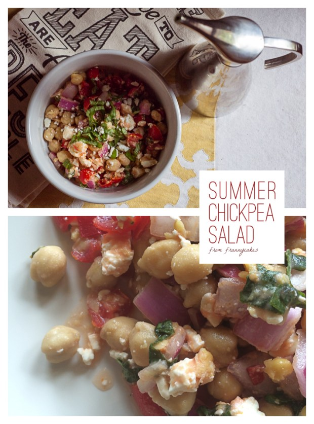 Summer Creamy Chickpea Salad | from FrannyCakes | Gluten-Free, Nut-Free, Vegetarian