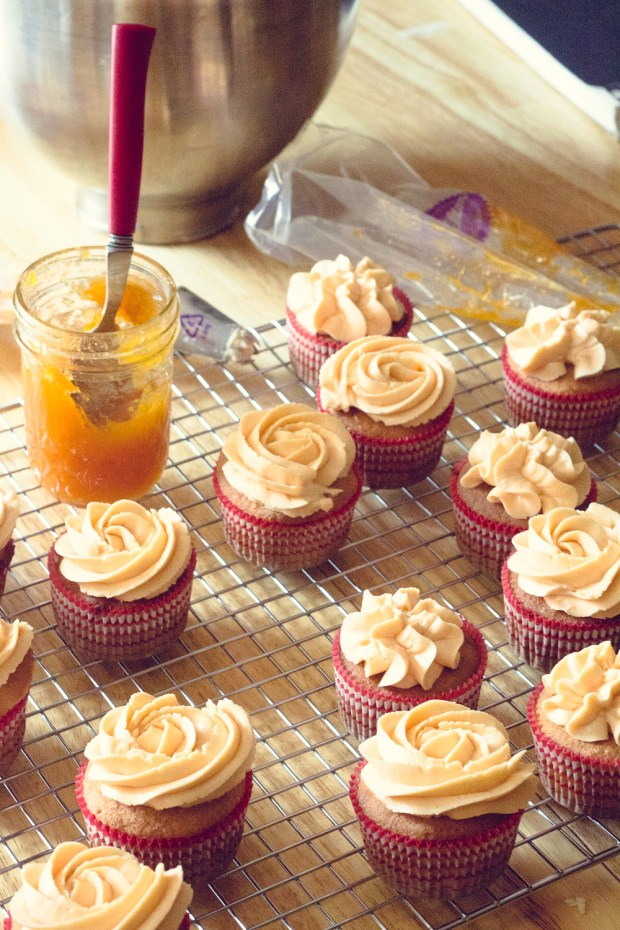 making gluten-free almond cupcakes with honey merengue buttercream | a gluten-free recipe from frannycakes.com