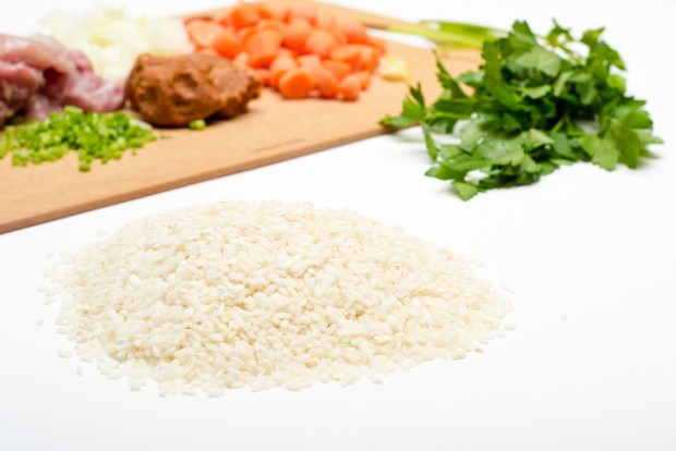 ingredients in gluten-free chicken & chorizo paella