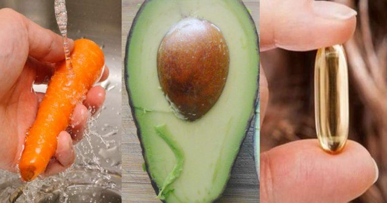 Una zanahoria, un aguacate y una cápsula de vitamina e: 20 minutos más tarde ¡la magia sucede!