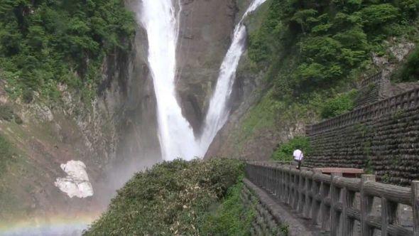 Cataratas de Japon Shomyo-daki y Hannoki-no-taki