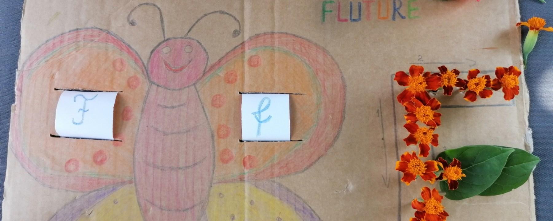 Litera F de la FLUTURE si FLOARE
