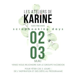 On fête le National Scrapbooking Day avec Les Ateliers de Karine!
