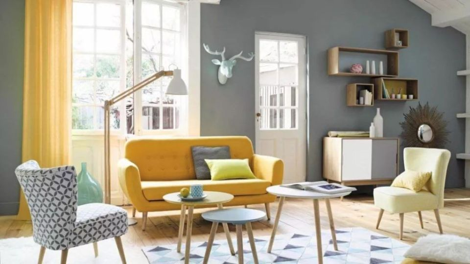 combinar colores y texturas de sofas y bancos