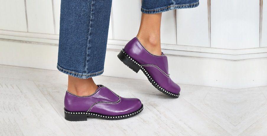 Los zapatos morados, una de las principales tendencias primavera-verano 2019
