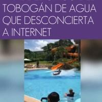 ¿Es real? El vídeo viral del chico del tobogán de agua que desconcierta a Internet