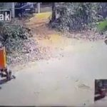 Estremecedor Vídeo: Camión le pasa por encima y sale ileso.