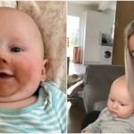 Madre que amamanta deja bronceado falso a su bebe