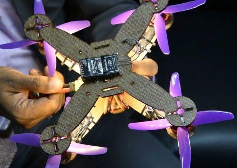 Investigadores de Malasia presentan un dron hecho con hojas de piña