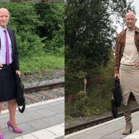 Hombre usa tacones y faldas para erradicar los estereotipos de género