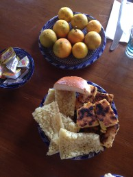 Breakfast at our first riad