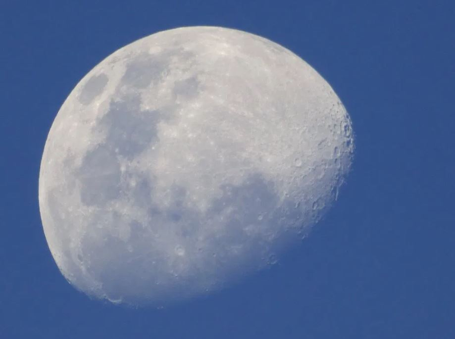 Moon visible during the day