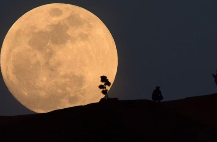Supermoon (Snow Moon) which occurred on February 9, 2020.