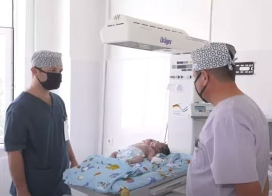 Birth in Uzbekistan: This baby was born with two heads